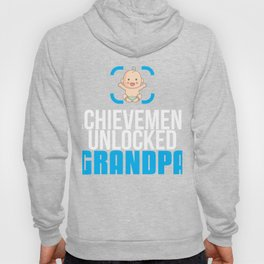 New Grandfather Gift Achievement Unlocked Grandpa Present for First Time Grandfather Hoody