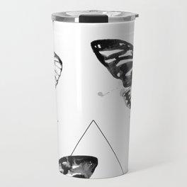 Geometric Moths Travel Mug