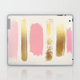 Brush Strokes (Rose/Gold) Laptop & iPad Skin