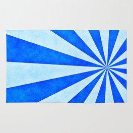 Blue sunburst Rug