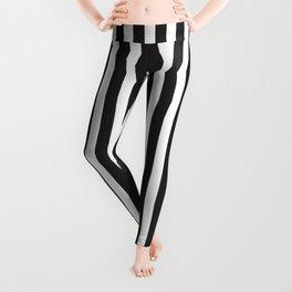 Monochrome Straight Stripes Leggings