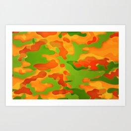 Bunny Camouflage Art Print
