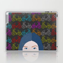 Happimess world - What goes through my head - Bicycles pattern Laptop & iPad Skin