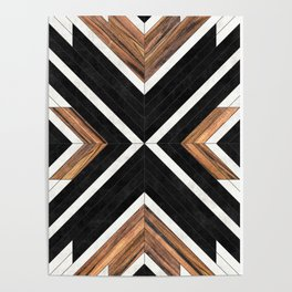 Urban Tribal Pattern No.1 - Concrete and Wood Poster