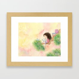 The Girl Who Wrote Stories Framed Art Print