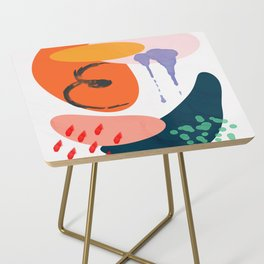 abstract dripping Side Table