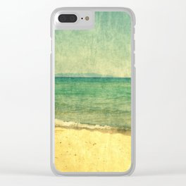 Seascape Vertical Abstract Clear iPhone Case