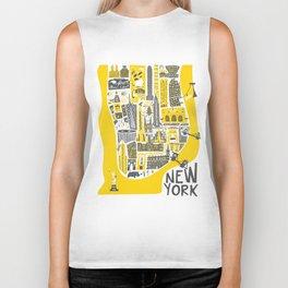 Manhattan New York Map Biker Tank