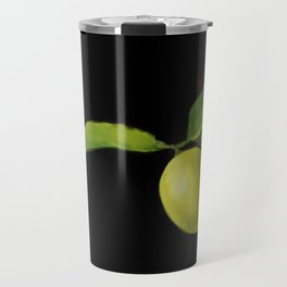 Lemon on Black DP150415a Travel Mug