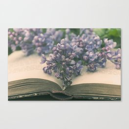 Book of LOVE - Lilacs Syringa Canvas Print