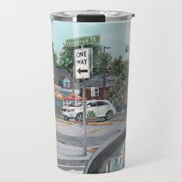 The Scotty Dog Beverly Massachusetts One Way Street Scene Travel Mug