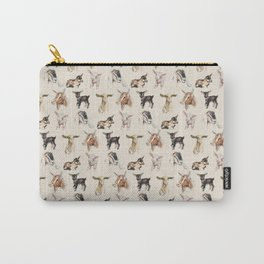 Vintage Goat All-Over Fabric Print Carry-All Pouch
