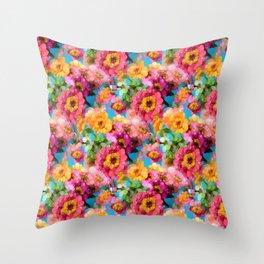 Summer Colors Throw Pillow