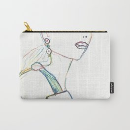 Color pencil fashion woman Carry-All Pouch