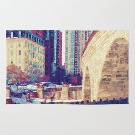 Stone Arch Bridge-Minneapolis, Minnesota Rug