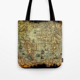 Vintage Old World Map Tote Bag