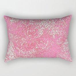 furry texture pink Rectangular Pillow