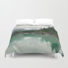 Turquoise lake - Landscape and Nature Photography Duvet Cover