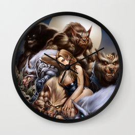 "Ravenous ""QUEEN of WOLVES""  Wall Clock"
