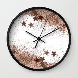 SHAKY STARS ROSEGOLD Wall Clock