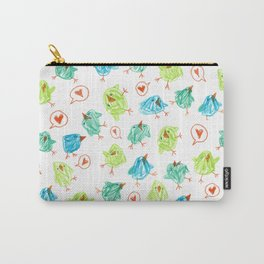 Scribble Birds Carry-All Pouch