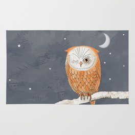 Winking Owl by the Light of the Moon Rug