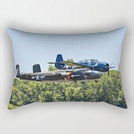 B-24 and Hellcat World War II Aircraft Fly Together at Mosby Missouri Rectangular Pillow
