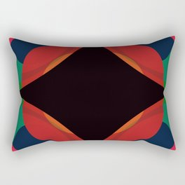 Retro Shape & Color Rectangular Pillow