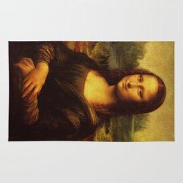 Leonardo Da Vinci Mona Lisa Painting Rug