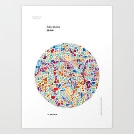 Spain – Barcelona Art Print