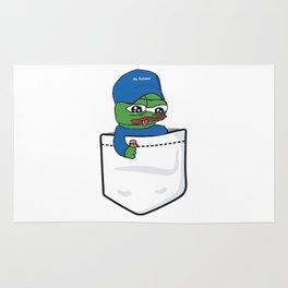 Apu Apustaja blue hat Be Patient in tee pocket PepeTheFrog Rug