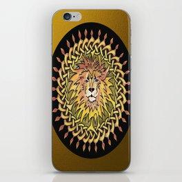 Lion Celtic Knot Mandala iPhone Skin