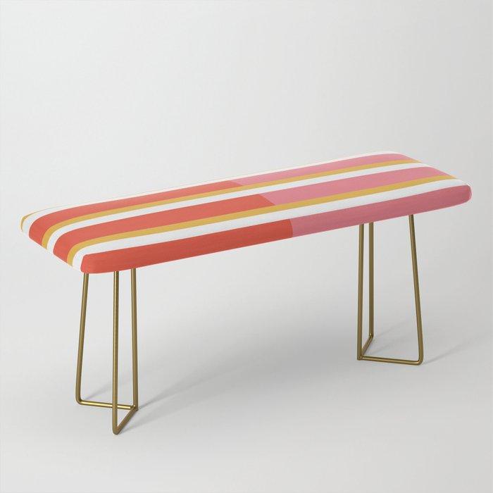 Blush Bright Stripe Bench