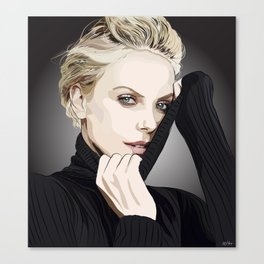 "Charlize Theron ""Rotoscoping"" Canvas Print"