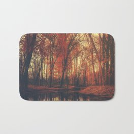 Where are you? Autumn Fall - Autumnal forest Bath Mat