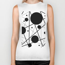 Abstract Lines and Dots Biker Tank