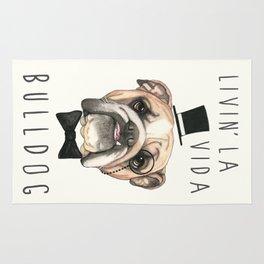 English Bulldog - livin' la vida bulldog Rug