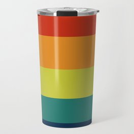 Vintage Bicycle Colorful Geometric Pattern Travel Mug