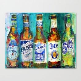Pabst Blue Ribbon Beer Print By Dorrie Rifkin Watercolors