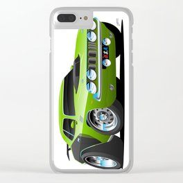 Classic Seventies Style American Muscle Car Cartoon Clear iPhone Case