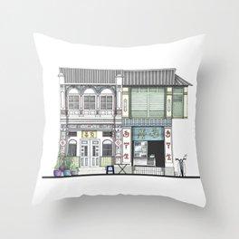 Penang Street Scene I Throw Pillow
