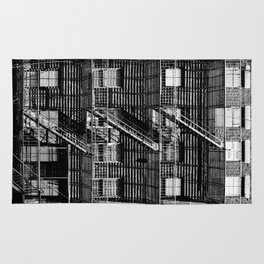 Fire escapes at noon Rug