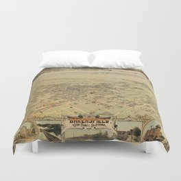Vintage Pictorial Map of Bakersfield CA (1901) Duvet Cover