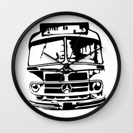 Bus To Haven Wall Clock