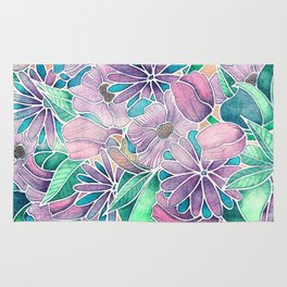 Blossoming - lilac, mint & aqua  Rug