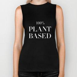 100% Plant Based Statement Tee Biker Tank
