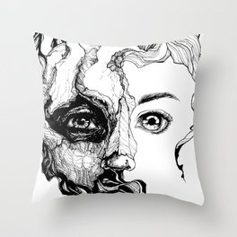 Dark Organics Throw Pillow