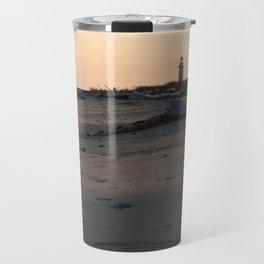 Italy Lighthouse Sunset Porto Tolle Travel Mug