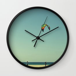 The kite coach Wall Clock