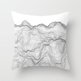 Soft Peaks Throw Pillow